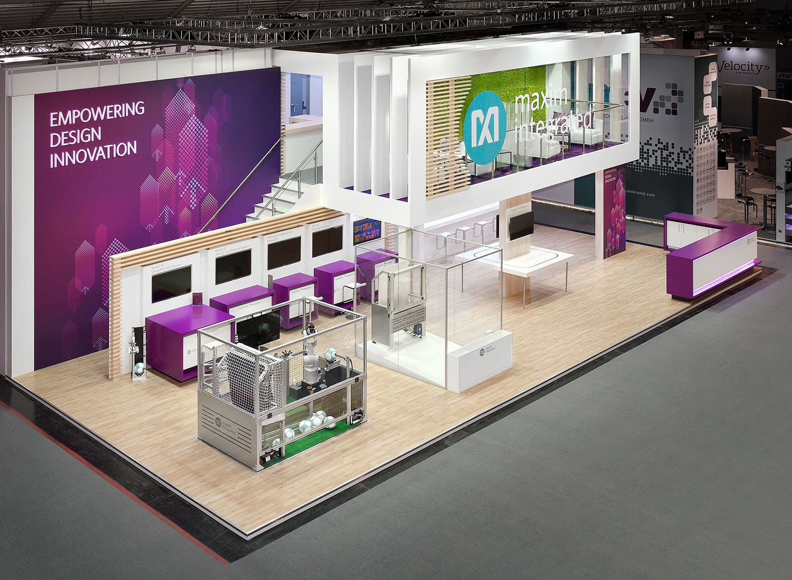 Maxim Trade Show Exhibition Stand by Nebula Exhibits