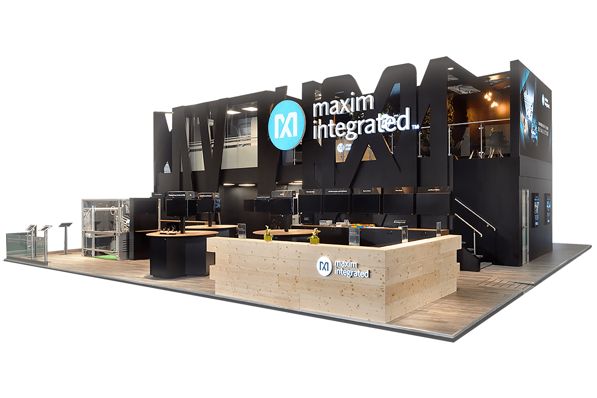 Maxim Integrated Trade Show Booth by Nebula Exhibits
