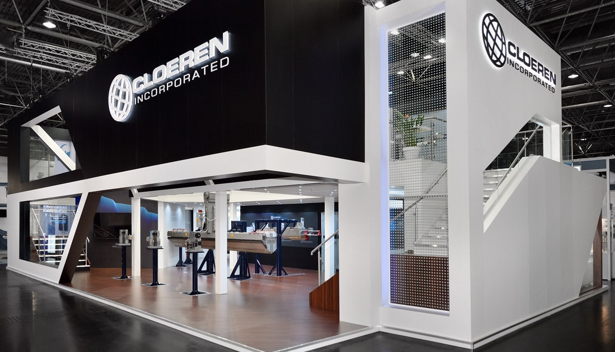 Cloeren Incorporated Exhibition Stand by Nebula Exhibits