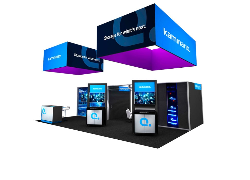 Kaminario Trade Show Booth by Nebula Exhibits