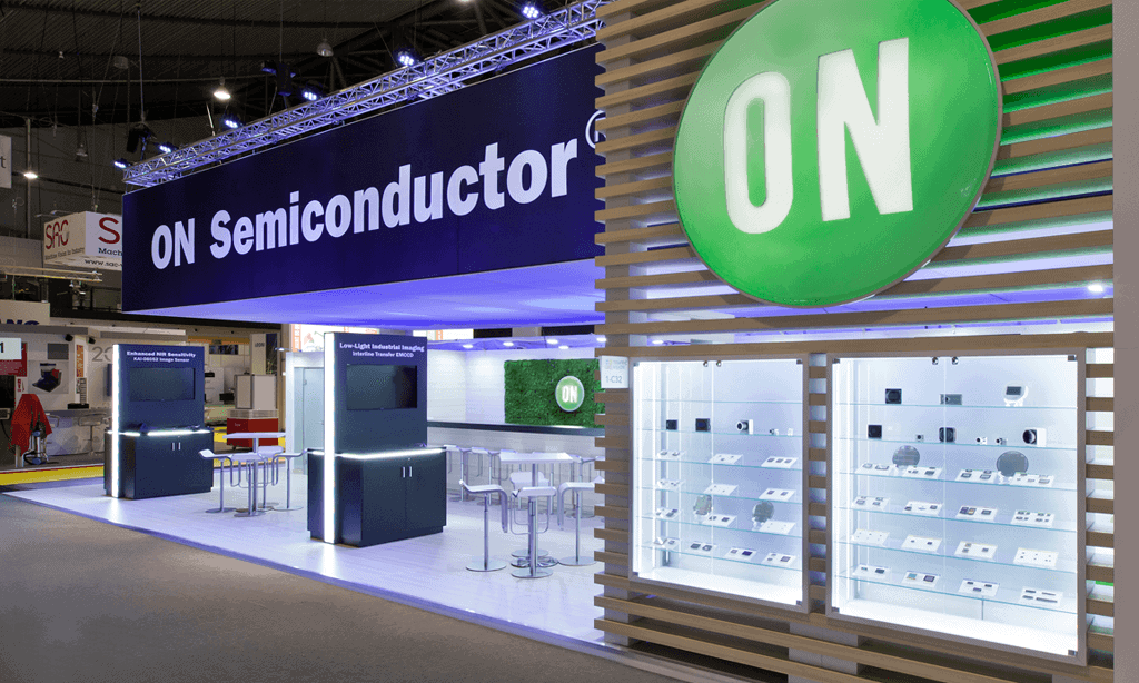 ON Semiconductor Trade Show Exhibit by Nebula Exhibits