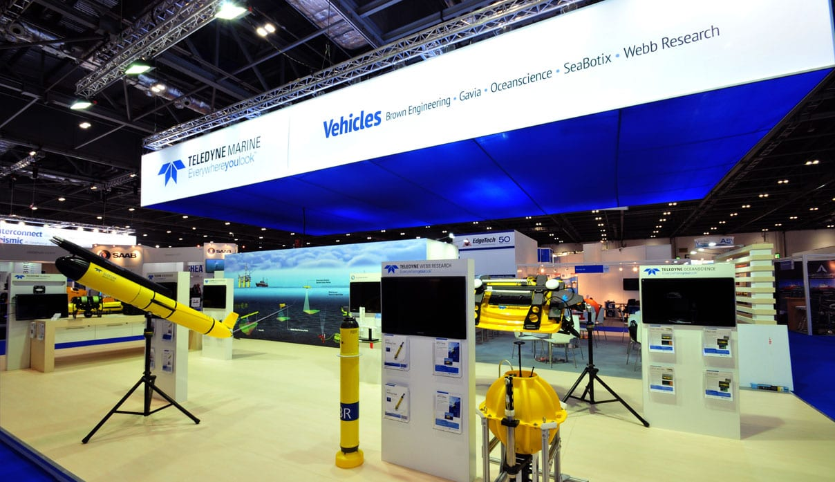 Teledyne Marine Exhibit Stand by Nebula Exhibits