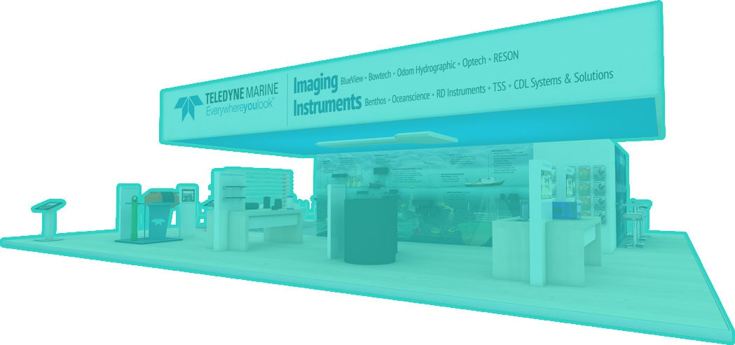 Teledyne Marine Booth by Nebula Exhibits