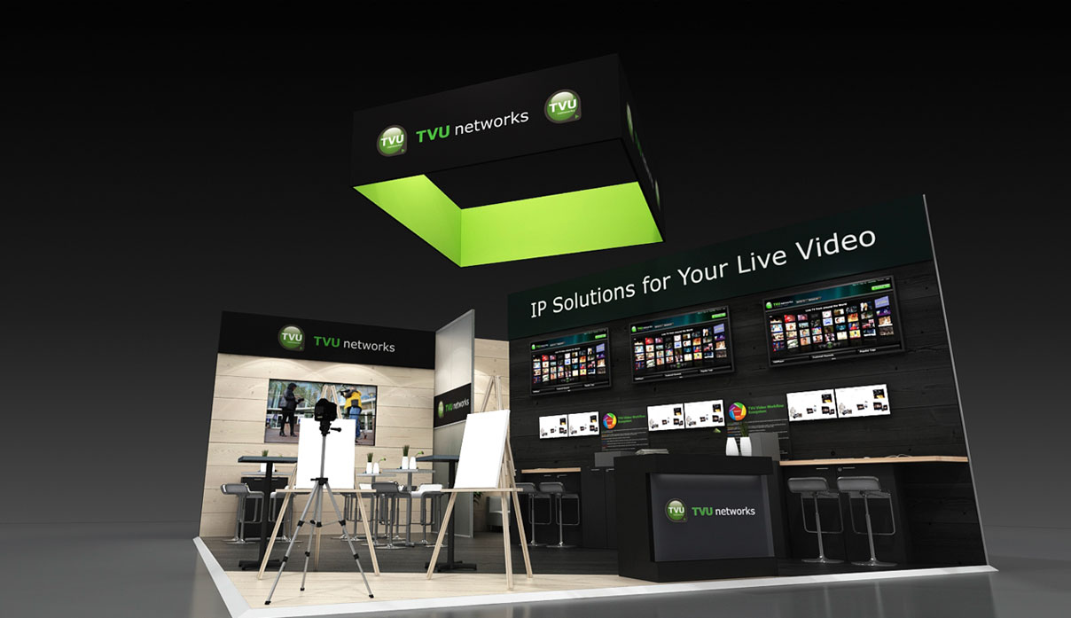 TVU Networks Exhibit Stand by Nebula Exhibits