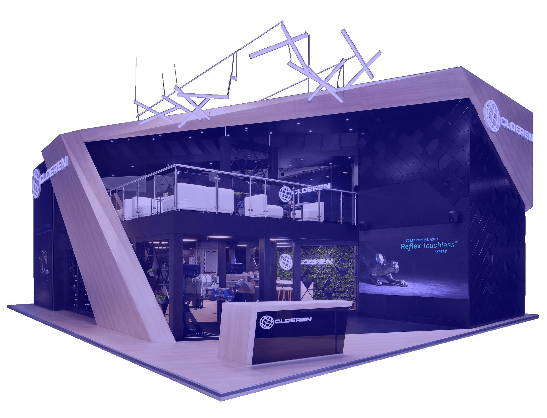 Cloeren Trade Show Booth by Nebula Exhibits